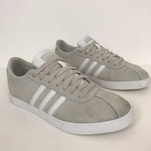 Adidas Neo Courtset Shoes Solid Grey Suede